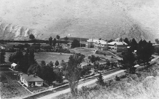 Aerial view of grounds in 1918