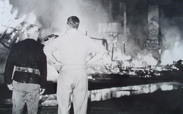 Boy's house fire in 1958
